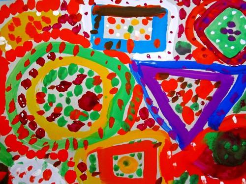 幼儿颜料创意画_广告颜料画_用颜料画的黑板报_简单 ...