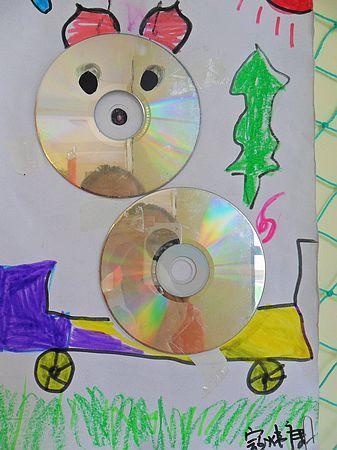 儿童光盘手工制作xiaodongwu