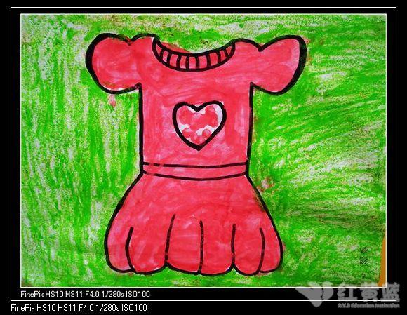 儿童裙子手绘画