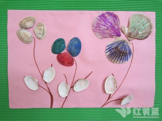 优秀儿童画贝壳图片