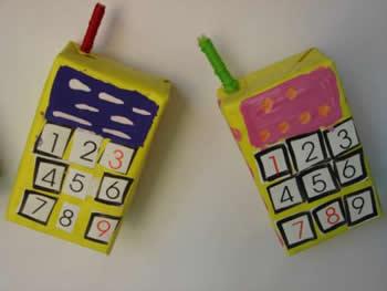 儿童手工制作电话机
