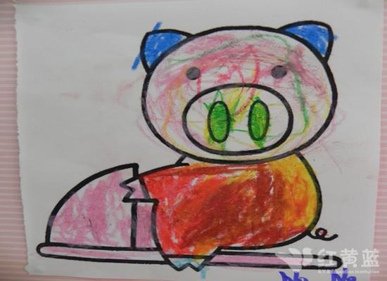 可爱的小猪 _ 红黄蓝|早教|早教中心