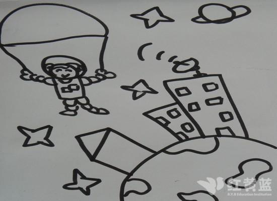 飞天的猫儿童画