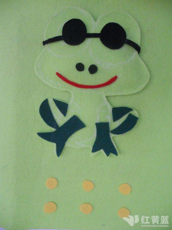 手工作品 青蛙先生图片