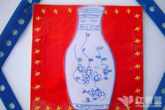 儿童瓶子青花瓷简笔画,儿童青花瓷简笔画,儿童青花瓷瓶子画 第10
