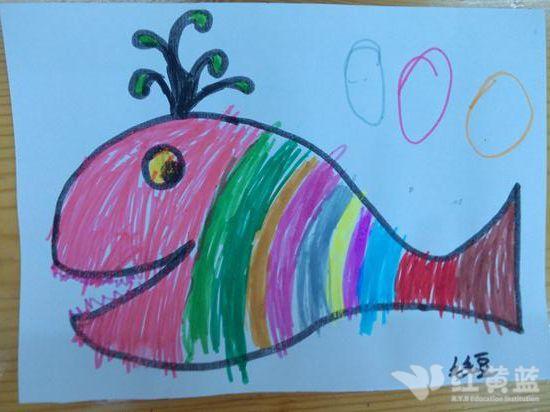 儿童画鲸鱼图片