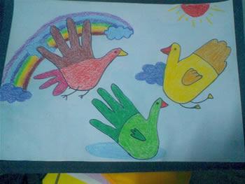 儿童画鸟的画图片