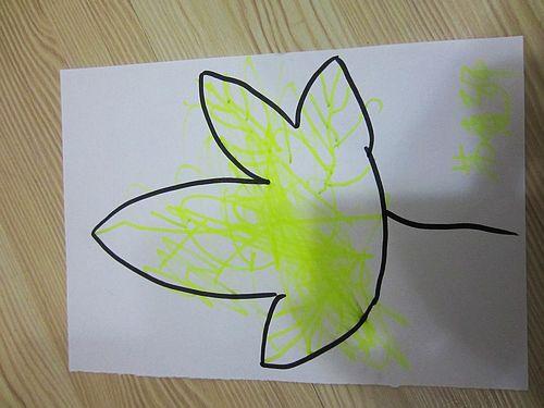 叶子儿童画图片