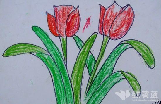 儿童画--花