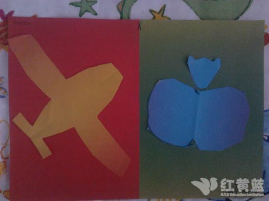 对称剪纸 _ 红黄蓝|早教|早教中心