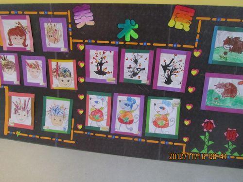红黄蓝金日紫都幼儿园美术特色课作品展览