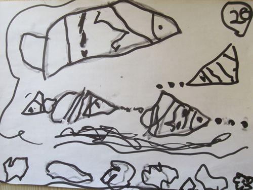 幼兒魚畫畫圖片大全