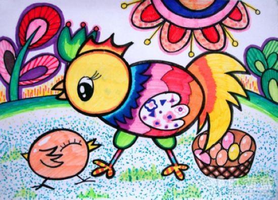儿童画 _ 红黄蓝|早教|早教中心