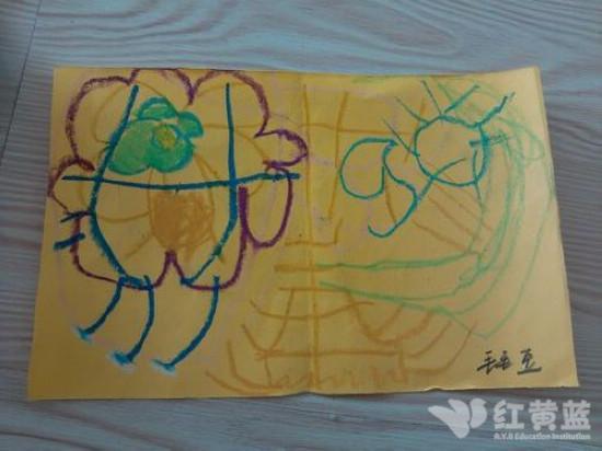 教师节主题儿童画; 爱的小卡片;;