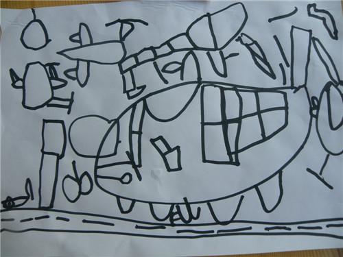 彩笔画,飞机4