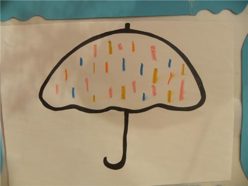 雨伞儿童画图片