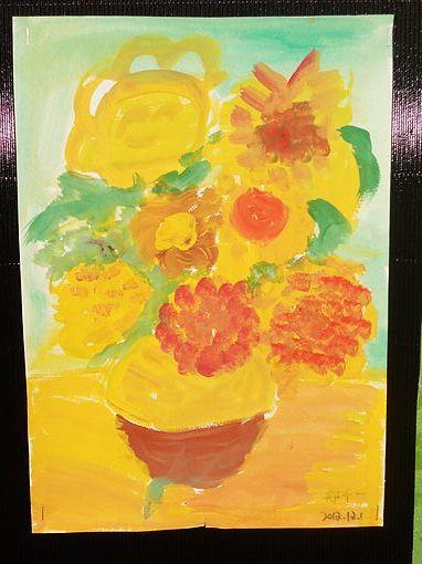 名画临摹——梵高《向日葵》