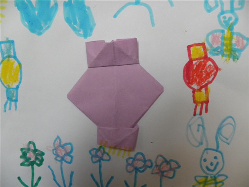 幼儿园灯笼折纸; 折纸灯笼;