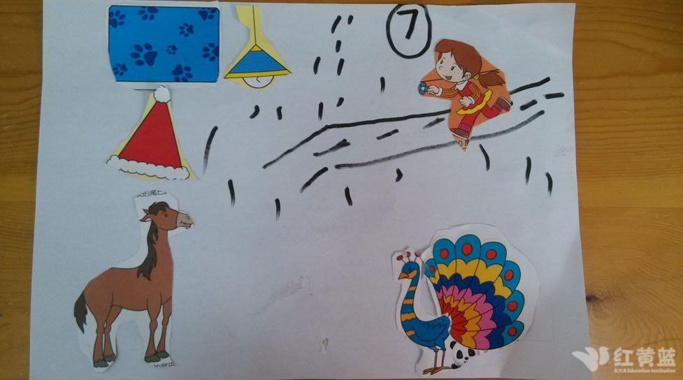 儿童剪纸粘贴画图片图片