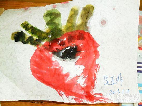 儿年龄:五岁 作品名称《萝卜》 班级:蓝一班-萝卜