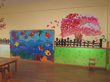 青岛红黄蓝万福幼儿园——环境创设活动