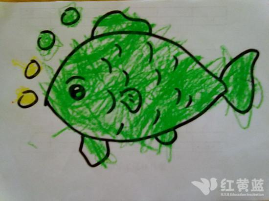 与绿色同行手绘图片