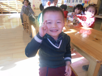 可爱的笑脸 _ 红黄蓝|早教|早教中心