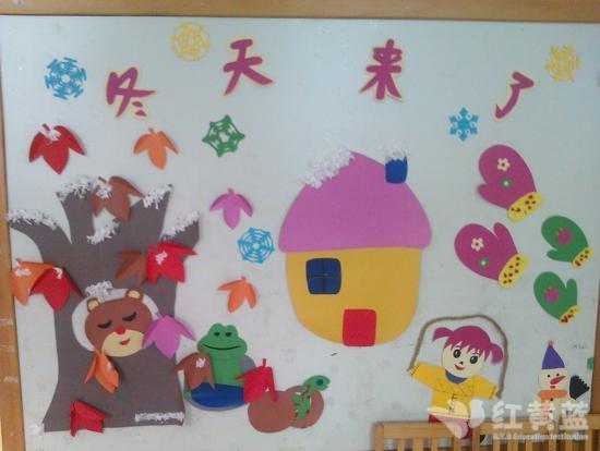 幼儿园主题墙饰设计冬天