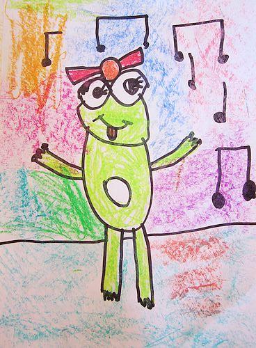 小青蛙头饰手工制作儿童画