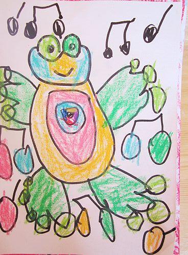 可爱小青蛙简笔画儿童画