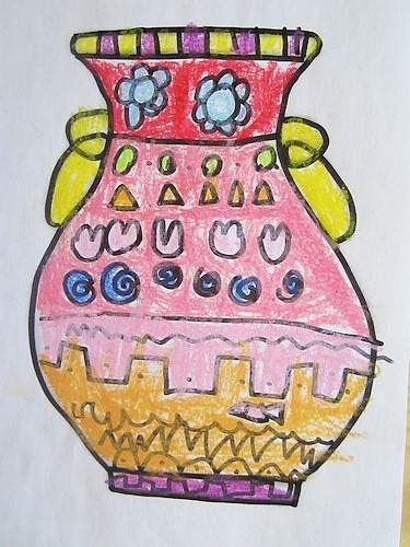 【儿童花瓶画】儿童手工花瓶_设计分享