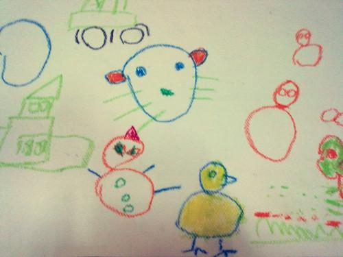 用圆组成的儿童画