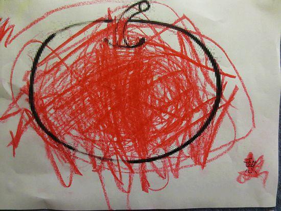 苹果剪纸图案画法步骤