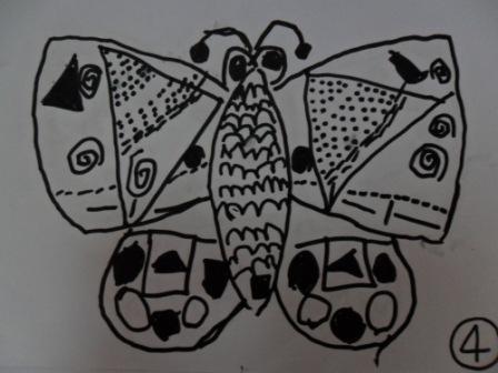 儿童教育领导品牌; 子先的线描画《美丽的蝴蝶》