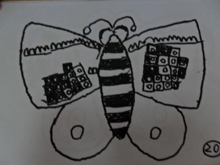 蝴蝶线描画图片图片大全;