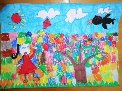 我眼中的春天 _ 红黄蓝|早教|早教中心图片