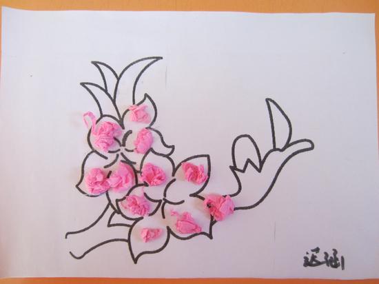 桃花幼儿画画图片