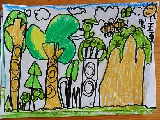 儿童学画画春天