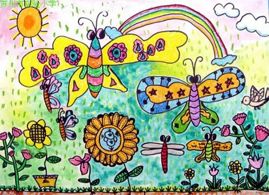 丰收的秋天主题绘画-新闻动态