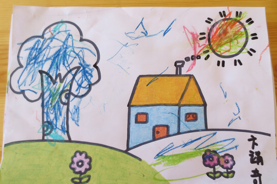 我眼中的春天儿童画我眼中的小学儿童画图片