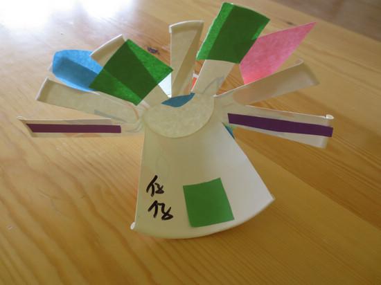 纸杯制作孔雀图解