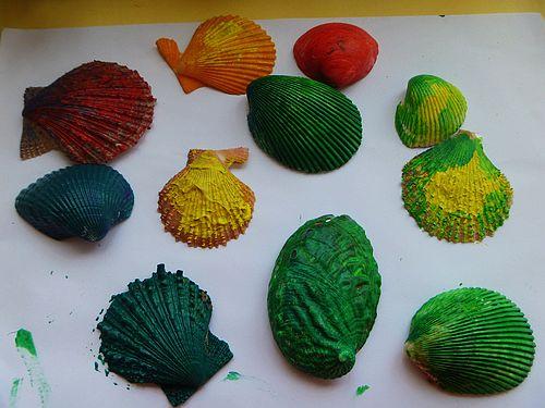 幼儿园贝壳粘贴画图片大全