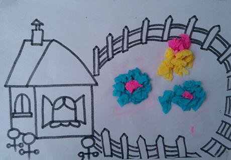 皱纹纸儿童裙子的做法图解