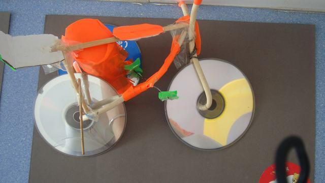 光盘自行车小制作过程