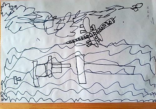 幼儿园放假黑板报简笔画