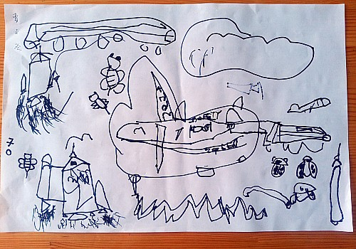 曹子欧:我和爸爸妈妈坐飞机噜!