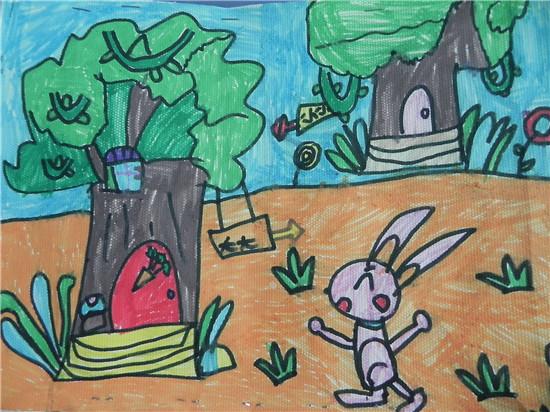 森林中的小兔子 _ 红黄蓝|早教|早教中心图片