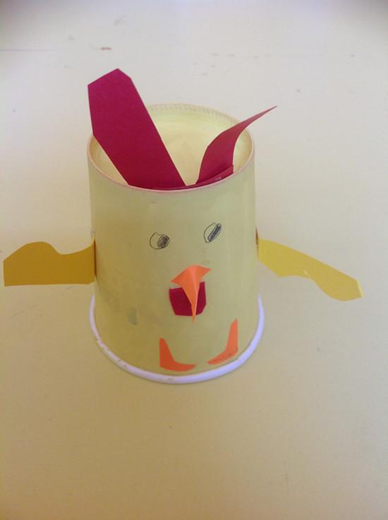 幼儿纸杯公鸡手工制作图片大全