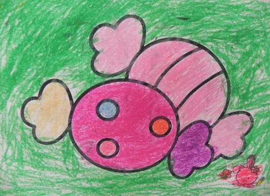 画糖果-幼儿园日记画画图片