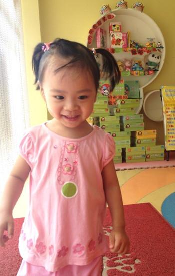 刘萱怡小朋友的笑容